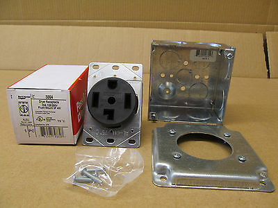 Nib P&S Dryer Kit 30 Amp 3864 Receptacle With Back Box And Cover Plate(63 Avail)