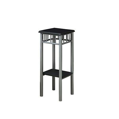 Monarch Specialties Black, Silver Metal Plant Stand - i3094