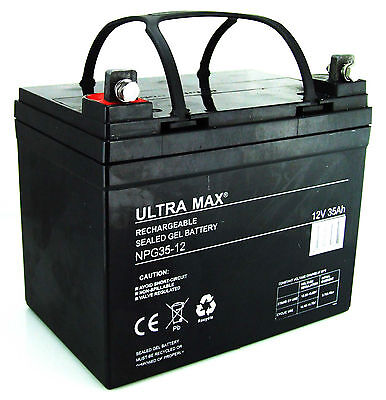 2 X Ultra Max 12V 35Ah GEL Batterie - Shoprider 6 RUNNER 10 pièce de rechange