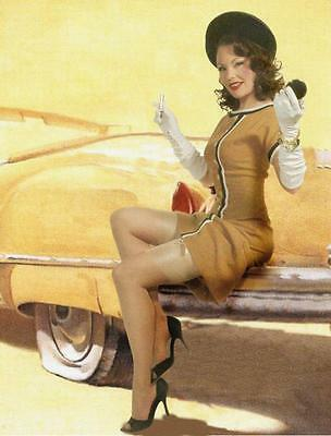 "Laura Shaffer June Pin-up 24""x35.5"" 1940s 1950s classic vintage tribute poster"