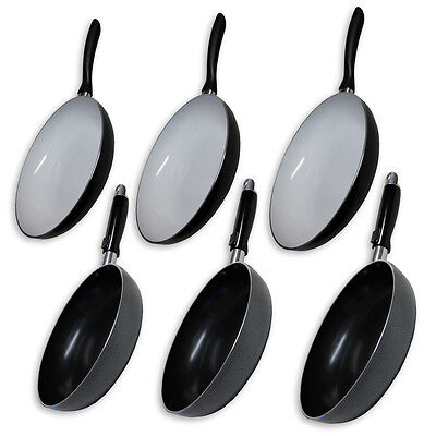 Aluminium Non Stick Coated Cooking Surface Ceramic Frying Pan Kitchen Frypan NEW