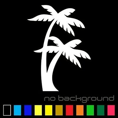Palm Tree Sticker Vinyl Decal Tropical Island Beach Ocean Wall Car Window