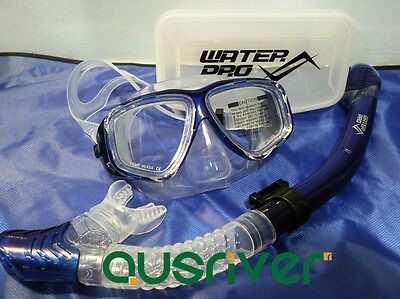 Unisex Water Pro Snorkeling Mask Set Dry Snorkel Divers Silicon Optical Lens