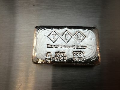 5oz Hand Poured 999 Silver Bullion Bar by Yeager's Poured Silver YPS