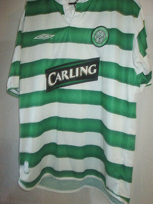 Celtic 2003-2004 Home Football Shirt Size Large Adult short sleeve /11695