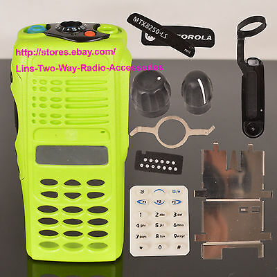 Green Replacement Repair Kit Case Housing For Motorola MTX8250.LS Portable Radio