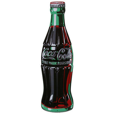 Coca-Cola Bottle Embossed Tin Metal Sign Vintage Style Diner Decor 7 x 21