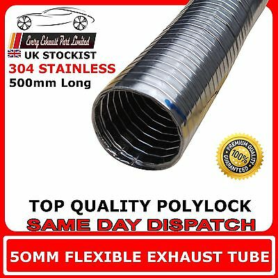 "2"" Universal Stainless Steel Flexi Hose Pipe For Exhaust Induction and Back Box"