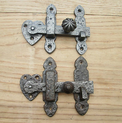 Wrought Iron Textured Vintage Old Cupboard Cabinet Door Gate Latch Bar Catch