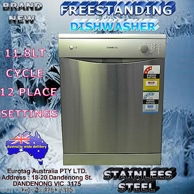 Eurotag W60A1A401F Freestanding Dishwasher Stainless Steel Rrp$599.00