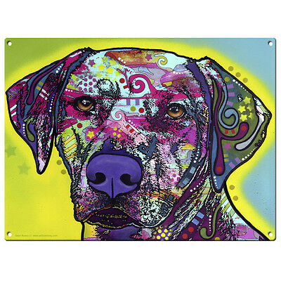 Rhodesian Ridgeback Dog Dean Russo Pop Art Sign Pet Steel Wall Decor 12 x 16