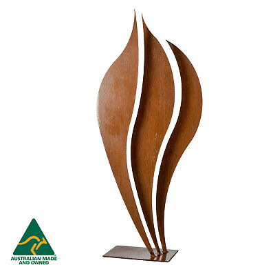 Flame 1 - Abstract metal garden art sculpture - Handmade in Australia