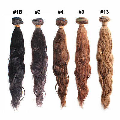 """12""""-28"""" New Remy Natural Body Wave Real Human Hair Weaving Weft Extensions 50g"""
