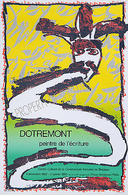Vintage French Alechinsky art ad print poster, large 4 sizes available