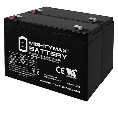 Mighty Max Battery 6V 12AH F2 SLA Replacement Battery for APC RBC3 AP 450AT 6 Pack Brand Product