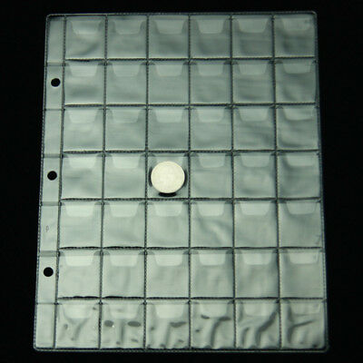5 pcs Coin Pages 42 Pockets 3*3CM Album Holder Page New