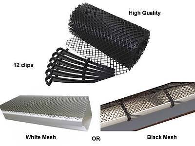 6M Gutter Mesh Roof Guttering Guard Cover To Stop Leaf & Debris Cloggs Blocks