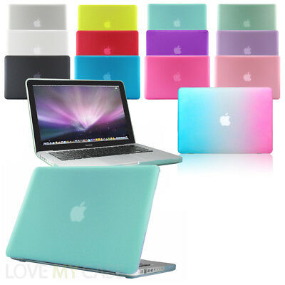 """Rubberized See-Through Hard Case Cover for Macbook Pro with DVD/CD Drive 13"""" 15"""""""