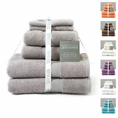 Jeff Banks Luxury 100% Pure Cotton Towel Bale - 6 Pieces - 550 GSM