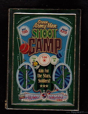WDI Disney Green Army Men Shoot Camp Poster Toy Story Mania Games LE 300 Pin
