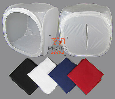 Photograpy Light Cube Tent - 90cm - Photo Studio Shooting Product 4 Backdrops