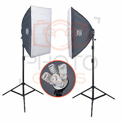 Softbox Studio Continuous Lighting Kit - Photography Portrait Product Video Set