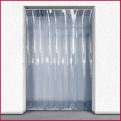 PVC Strip Curtain / Door Strip Kit - 1.5m (w)  x 2m (d) - 200mm x 2mm Strip