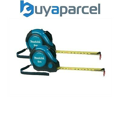 2x Makita P-73003 Autolock 8m Measuring Tape Measure 8 Metres Metric Imperial