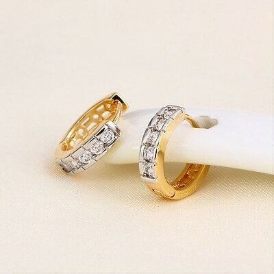 """9ct 9k Yellow """"GOLD FILLED"""" Multi Colour Little Girl's Small Hoop Earrings, 12mm"""
