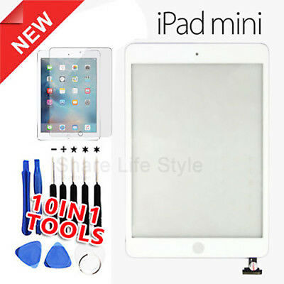 For White iPad mini 1/2 Touch Glass Digitizer Screen Replacement