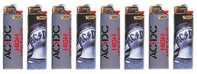 Bic AC/DC Logo Design Lighters Set of 8 Officially Licensed ACDC Collector Set