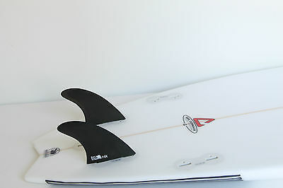White trash surfboard thruster 6394quot vgc for Surfboard fin template