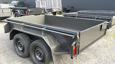 8x5 Tandem Trailer with Checker Plate Floor 400 mm High Side
