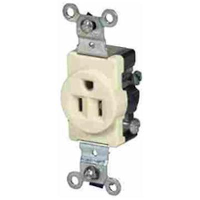 Leviton S00-05015-OOS Commercial Single Grounding Receptacle, 15 Amp