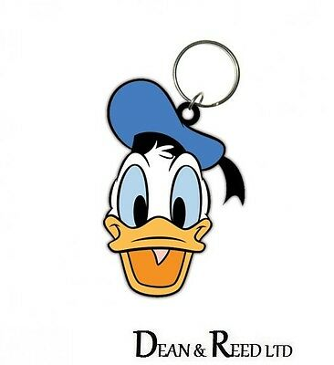 *NEW* DISNEY Donald Duck (Head) RUBBER KEYRING / KEYCHAIN BY PYRAMID