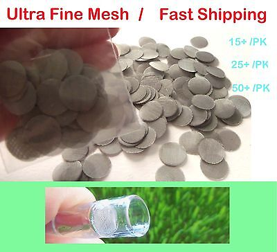 5~50+ Pack Ultra Fine Mesh Stainless Steel Screens For Arizer Solo