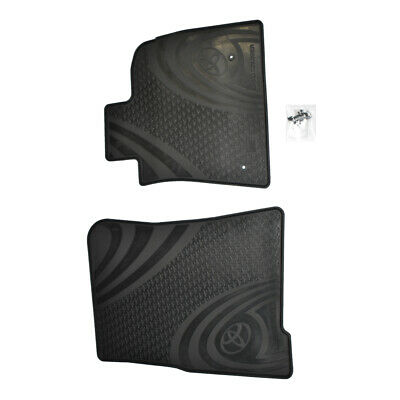 New Genuine Toyota Landcruiser 200 Series Front Rubber Floor Mats Pair '07-01/12