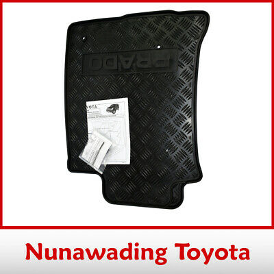 New Genuine Toyota Prado 120 Series Rubber Floor Mats Front Pair 2004-2009