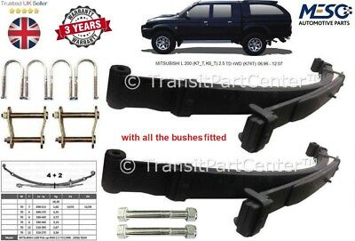 Pair of Rear 6 Leaf Springs + Kits For Mitsubishi L200 K74 2.5TD 4D56 1996-2007