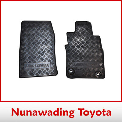 New Genuine Toyota Landcruiser 70 Series Rubber Floor Mats Front Pair Aug 2012>