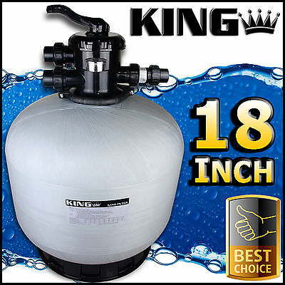 "18"" Swimming Pool Sand Filter - 18 Inch Pool Filter Fiberglass Fibreglass New"