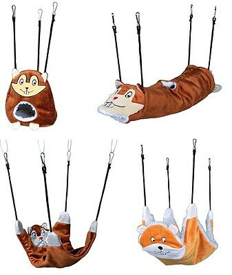 Trixie Small Animal Hanging Cage Accessories Tunnel Hammock Bed Rat Mouse Choice
