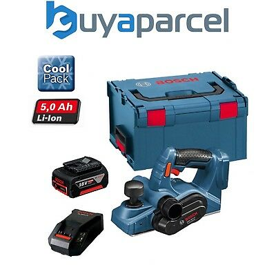 Bosch GHO 18VLI 18v Cordless Planer Lithium-Ion + 5.0ah Battery, Charger + LBOXX