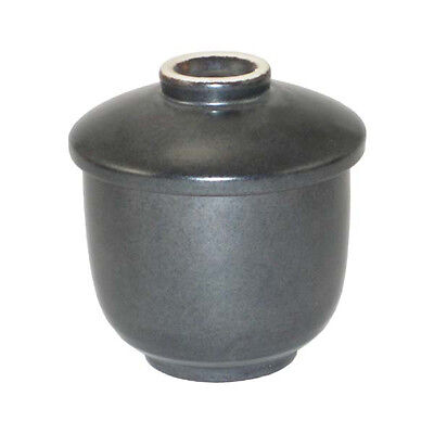 "Japanese 3.25""D Black Alloy Chawa Mushi Chawanmushi Bowl Cup, Made in Japan"
