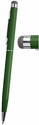 1 Green PRO Stylus with Ball Point Pen ULTRA-SMOOTH Micro-Fibre Tip Tablets iPad