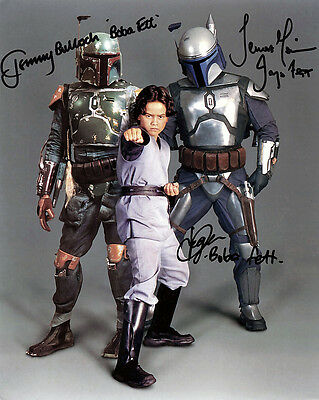 Jeremy Bulloch And Daniel Logan And Temurera Morrison Cast Signed Photo Prnt 01
