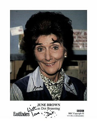 June Brown (Eastenders) Signed Photo Print 01