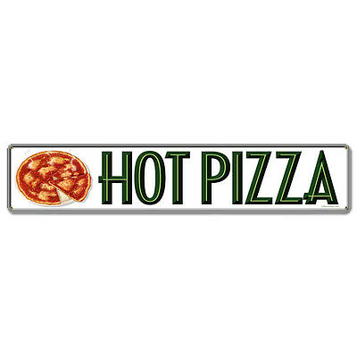 Pizza Pies Vintage Diner Menu Italian Restaurant Hot Food Metal Sign 28 x 6