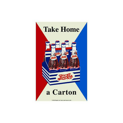 Pepsi Take Home A Carton Triangles Metal Sign Vintage Style Wall Decor 11 x 17