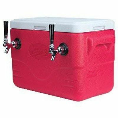 Double Faucet Draft Beer Jockey Box - 48 Quarts, 2 50-ft. Stainless Steel Coils